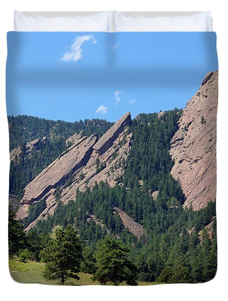 The Flatirons Duvet Cover by Bob Hislop