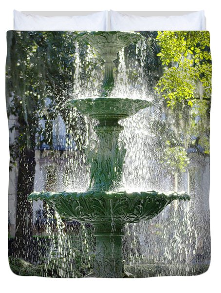 The Fountain Duvet Cover by Mike McGlothlen