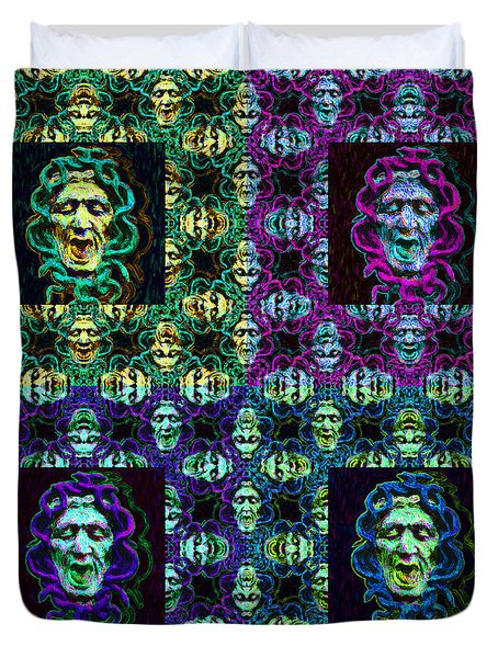 The Four Medusas 20130131 Duvet Cover by Wingsdomain Art and Photography