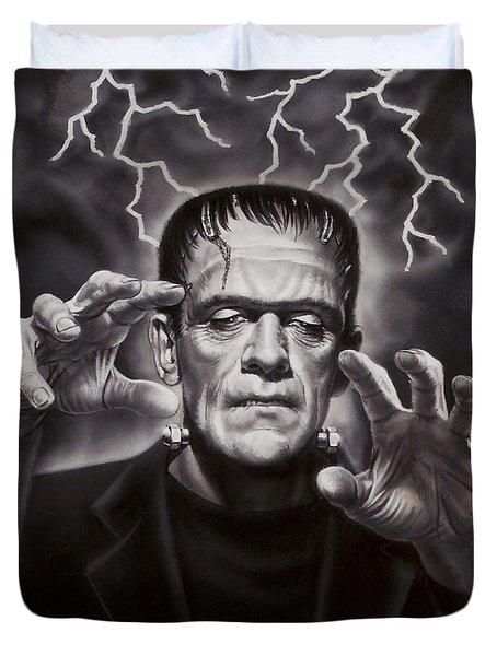 The Frankenstein Monster Duvet Cover by Dick Bobnick