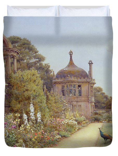 The Gardens At Montacute In Somerset Duvet Cover by Ernest Arthur Rowe