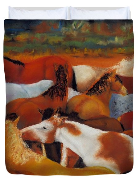 The Gathering Duvet Cover by Frances Marino