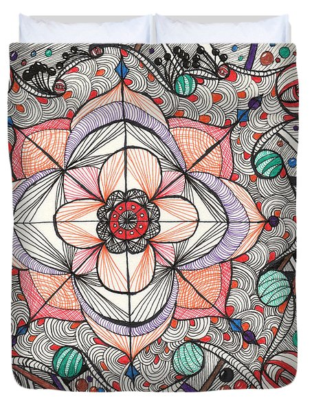 The Gathering Of Colors Duvet Cover by Anita Lewis