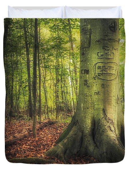 The Giving Tree Duvet Cover by Scott Norris
