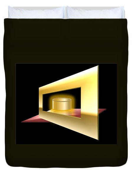 The Golden Can Duvet Cover by Cyril Maza