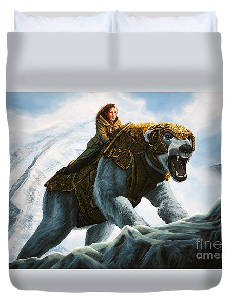 The Golden Compass  Duvet Cover by Paul Meijering