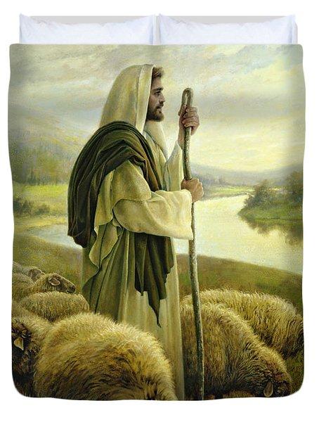 The Good Shepherd Duvet Cover by Greg Olsen