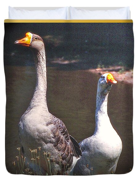 The Goose And The Gander Duvet Cover by Patricia Keller
