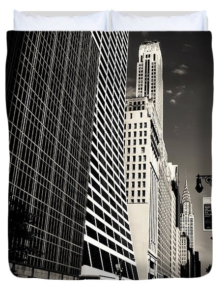 The Grace Building and the Chrysler Building - New York City Duvet Cover by Vivienne Gucwa