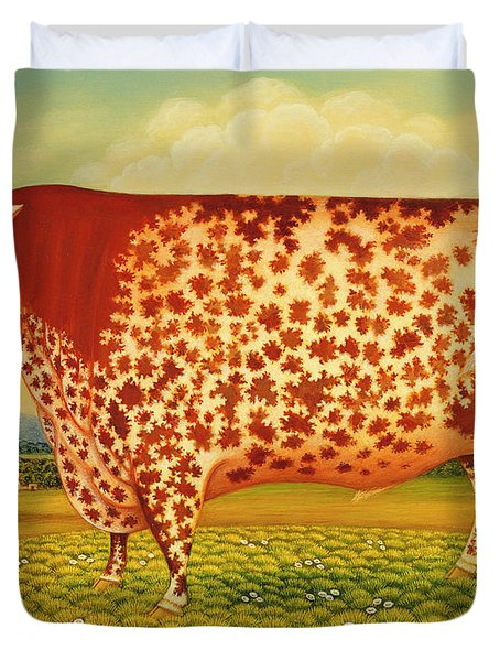The Great Bull Duvet Cover by Frances Broomfield