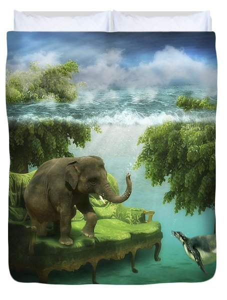The Green Room Duvet Cover by Martine Roch