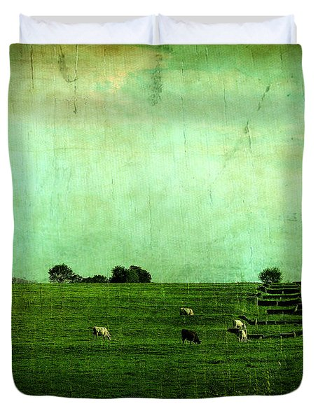 The Green Yonder Duvet Cover by Trish Mistric