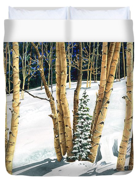 The Guardians Duvet Cover by Barbara Jewell