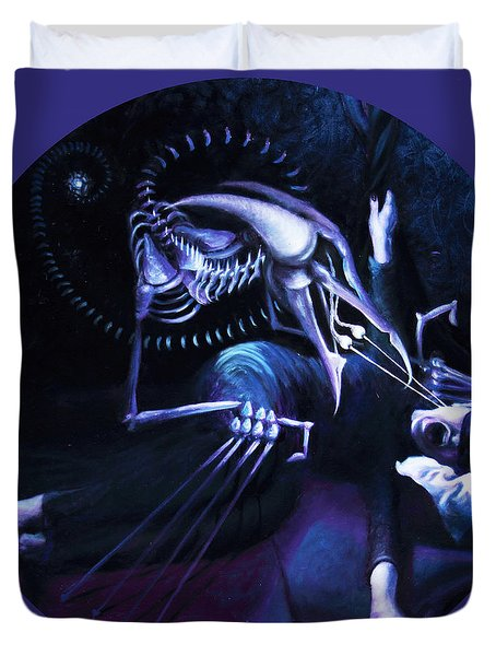 The Hallucinator Duvet Cover by Shelley  Irish