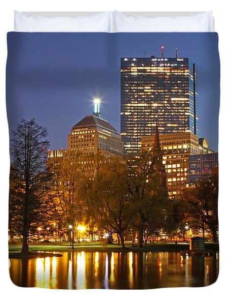 The Hancock and The Pru Duvet Cover by Juergen Roth