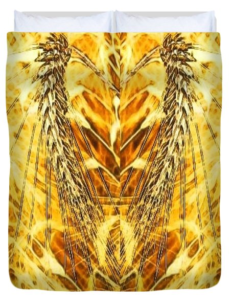 THE HARVEST IS PLENTIFUL THE LABORERS ARE FEW Duvet Cover by PainterArtist FIN