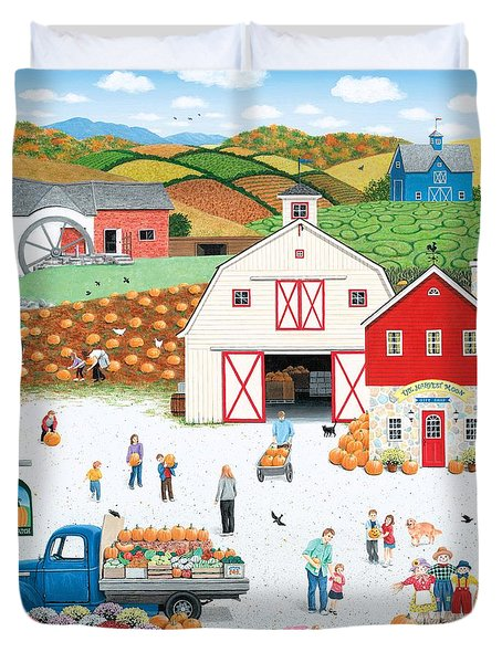 The Harvest Moon Duvet Cover by Wilfrido Limvalencia