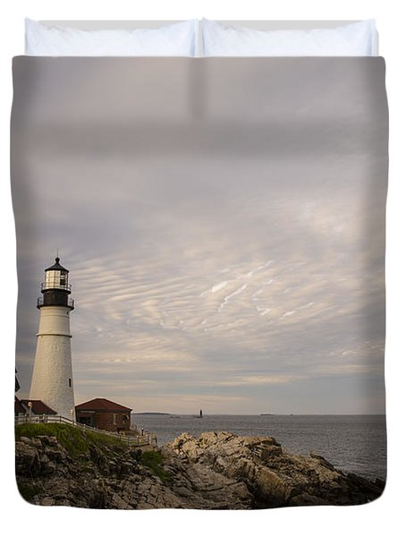The Head Light Duvet Cover by Karol Livote