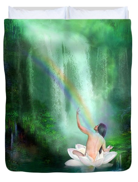 The Healing Place Duvet Cover by Carol Cavalaris
