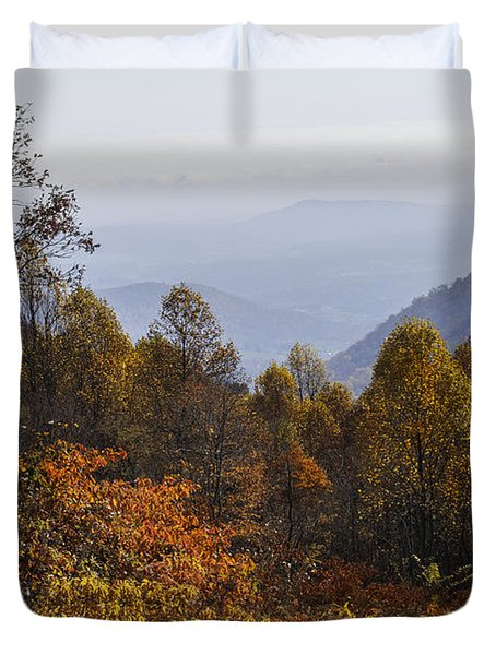 The Heart Of Autumn Duvet Cover by Lynn Bauer