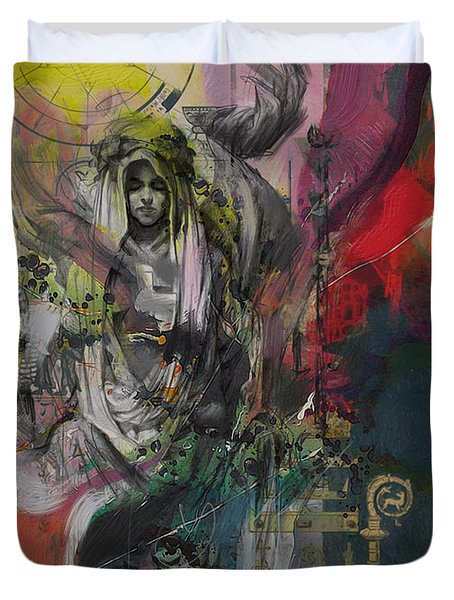 The High Priestess Duvet Cover by Corporate Art Task Force