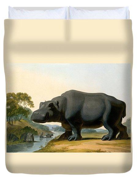 The Hippopotamus, 1804 Duvet Cover by Samuel Daniell
