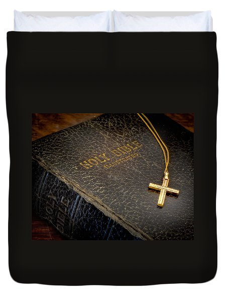 The Holy Bible Duvet Cover by David and Carol Kelly