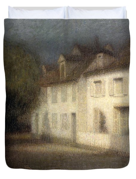 The House Duvet Cover by Henri Eugene Augstin Le Sidaner