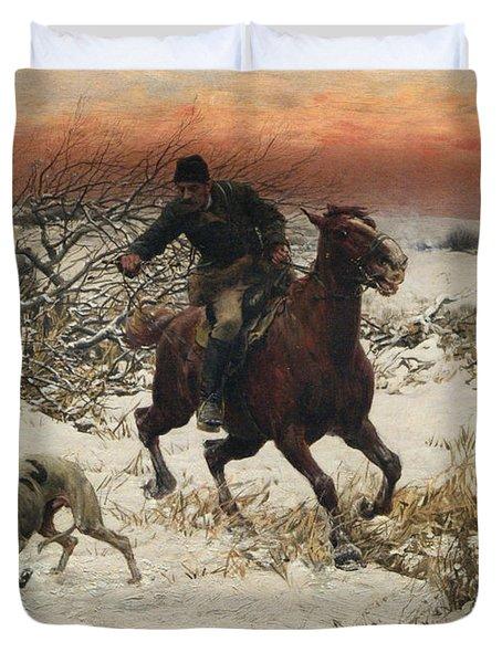 The Hunters Duvet Cover by A Wierusz Kowalski