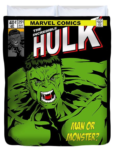 The Incredible Hulk Duvet Cover by Mark Rogan