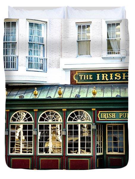 The Irish Pub - Philadelphia Duvet Cover by Bill Cannon