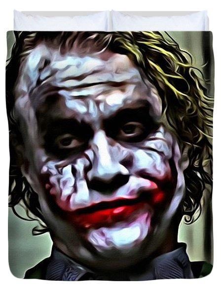 The Joker Duvet Cover by Florian Rodarte