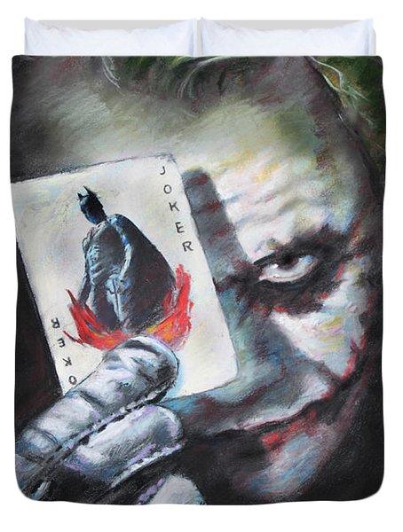 The Joker Heath Ledger  Duvet Cover by Viola El