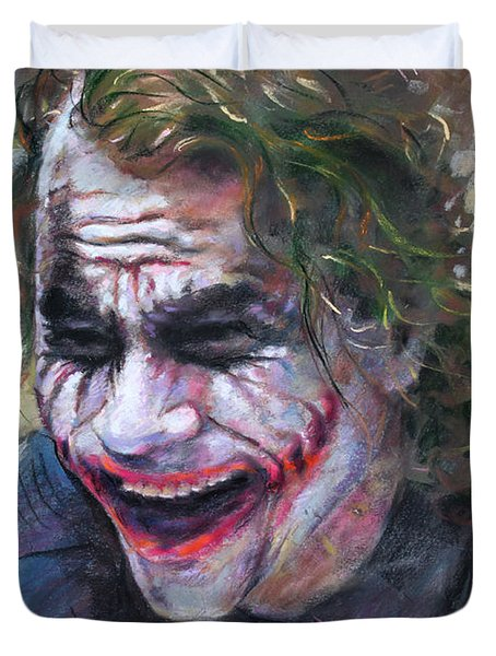 The Joker Heath Ledger  sm Duvet Cover by Ylli Haruni