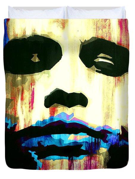 The Joker Why So Serious Duvet Cover by Brad Jensen