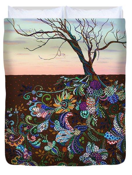 The Journey Duvet Cover by James W Johnson