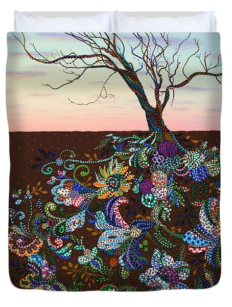 The Journey Duvet Cover by James W Johnson
