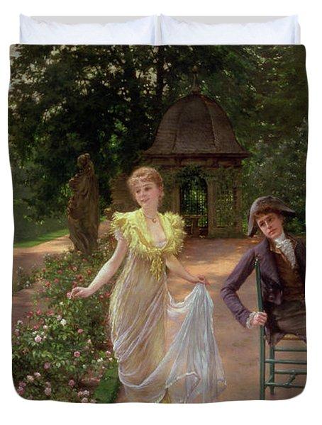 The Judgement Of Paris Duvet Cover by Hermann Koch
