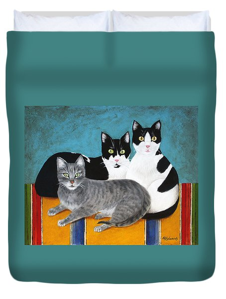 The Kids Duvet Cover by Marna Edwards Flavell
