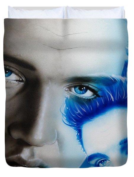 'the King' Duvet Cover by Christian Chapman Art