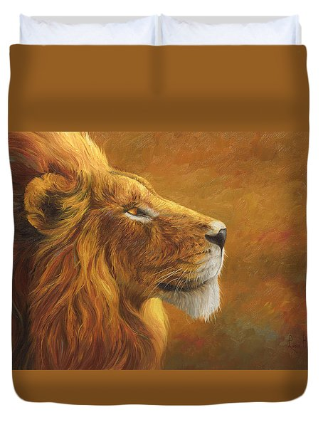 The King Duvet Cover by Lucie Bilodeau