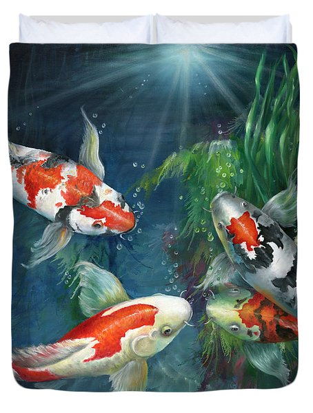 The koi pond painting by kathy brecheisen for Koi pool cover
