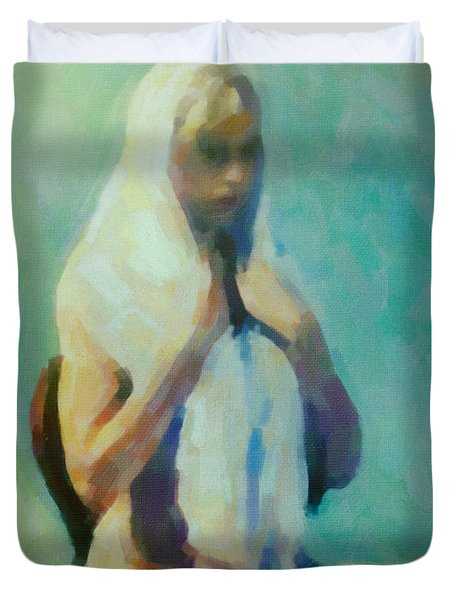 The Lady In Waiting Duvet Cover by Cinema Photography