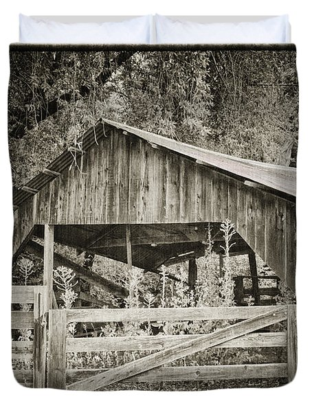 The Last Barn Duvet Cover by Joan Carroll