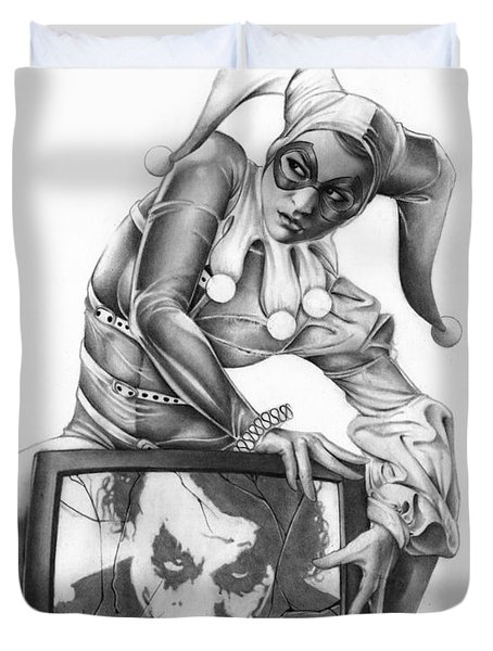 The Last Laugh Duvet Cover by Pete Tapang