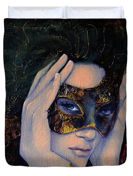 The Last Secret Duvet Cover by Dorina  Costras