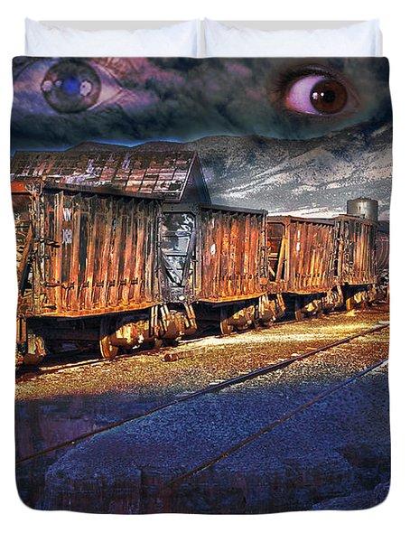 The Last Shipment Duvet Cover by Gunter Nezhoda