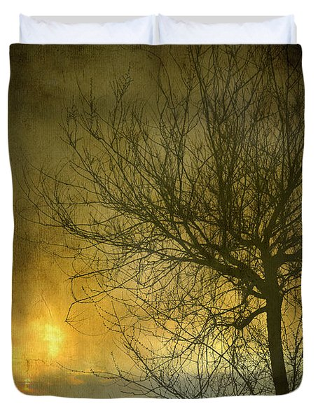 The Light Escapes Through The Clouds Duvet Cover by Guido Montanes Castillo