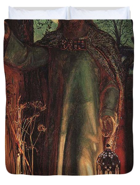 The Light of the World Duvet Cover by William Holman Hunt