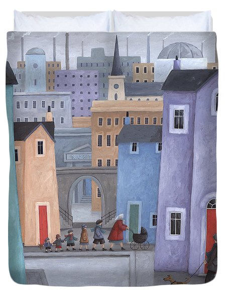 The Little Ones Duvet Cover by Peter Adderley
